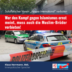 """Read more about the article Ansaar-Verbot: """"Ein richtiger Schritt im Kampf gegen Islamismus, aber weitere sind nötig"""""""