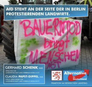 Read more about the article AfD steht an der Seite der in Berlin protestierenden Landwirte.