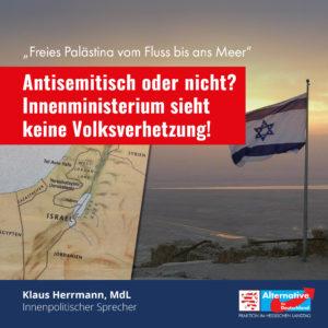 "Read more about the article Hessisches  Innenministerium sieht in geplanter ""Nakba""-Demontration keine Volksverhetzung!"