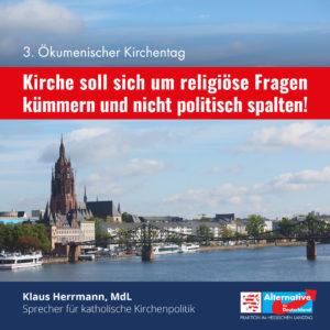 """Read more about the article """"Zu politisch, zu wenig spirituell"""""""
