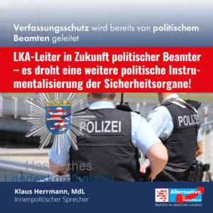 Read more about the article Klaus Herrmann zur Einsetzung von Röhrig als LKA-Leiter