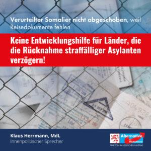 Read more about the article Verurteilter Somalier nicht abgeschoben, weil Reisedokumente fehlen