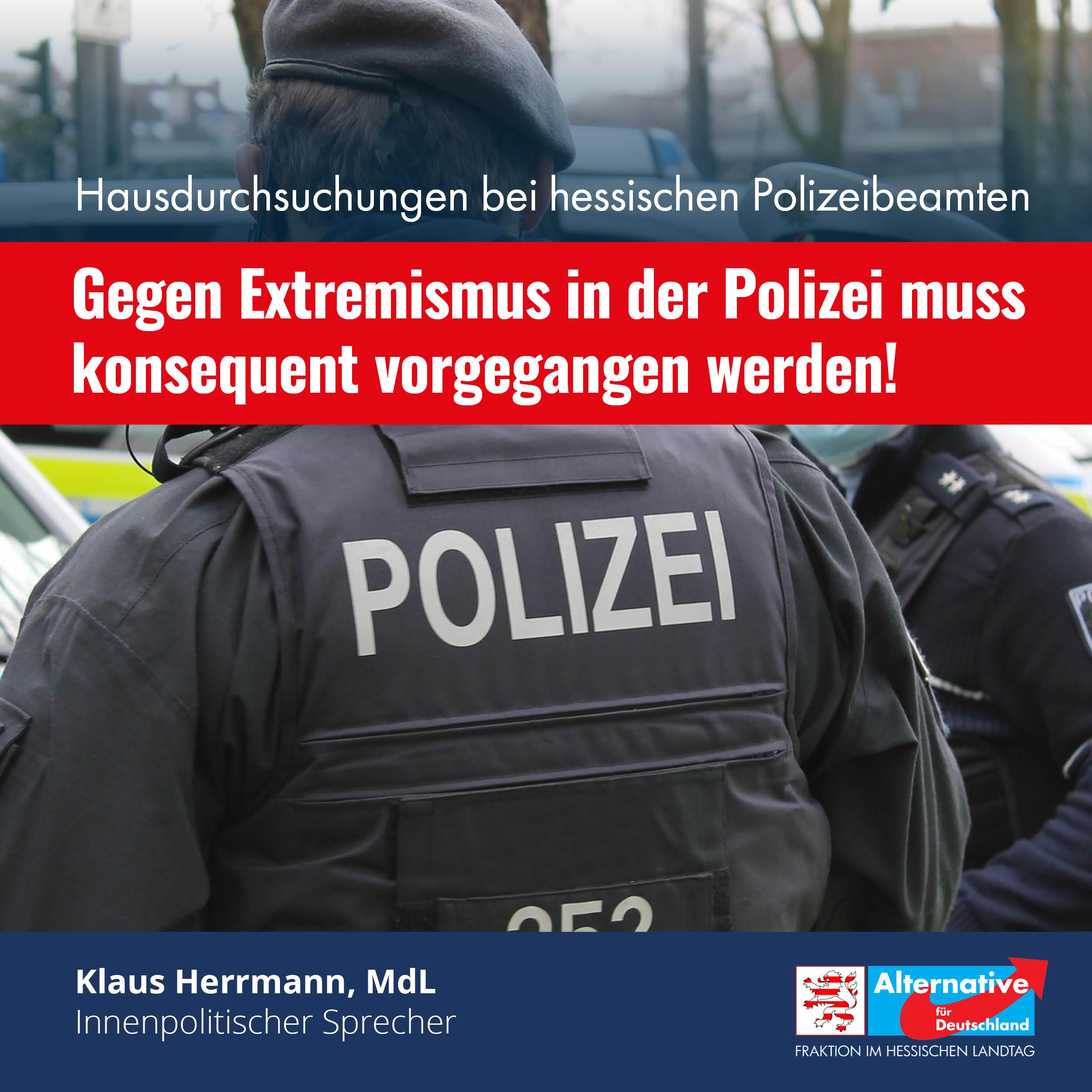 """Read more about the article """"Gegen Extremismus in der Polizei muss konsequent vorgegangen werden!"""