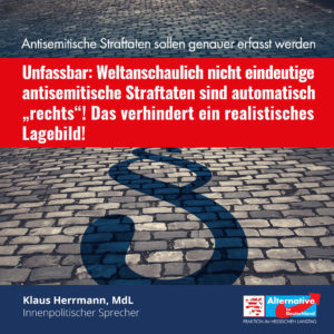 """Read more about the article Antisemitische Straftaten genauer erfassen: """"Warum geht Hessen nicht voran?"""""""