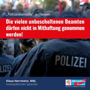 """Read more about the article """"Die vielen unbescholtenen Beamten dürfen nicht in Mithaftung genommen werden"""""""