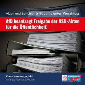 Read more about the article AfD beantragt Freigabe der NSU-Akten für die Öffentlichkeit