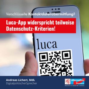 Read more about the article Luca App: Keine Eingriffe in die digitale Selbstbestimmung!