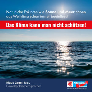 Read more about the article Das Klima kann man nicht schützen