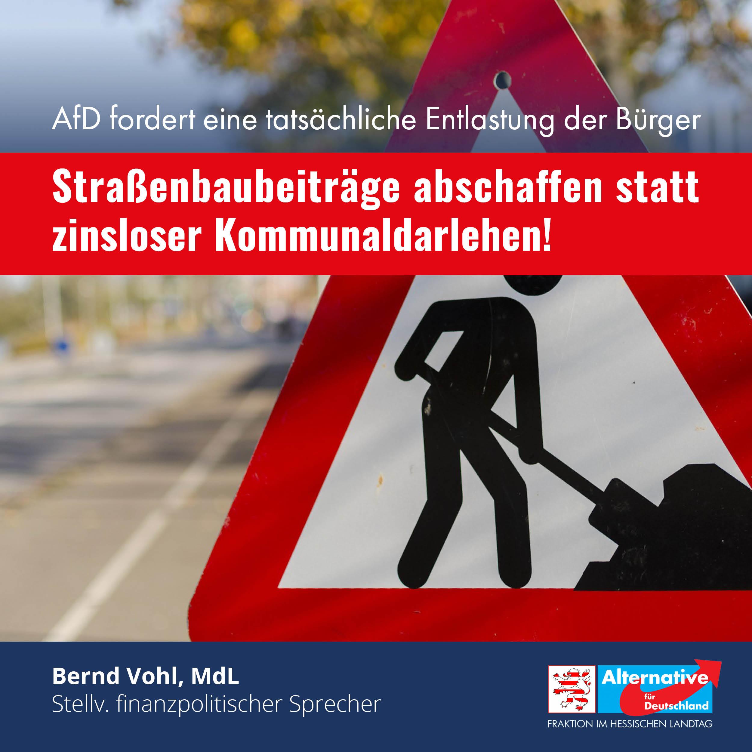 Read more about the article Straßenbeiträge: Zinslose Kommunaldarlehen sind keine Entlastung für die Bürger!