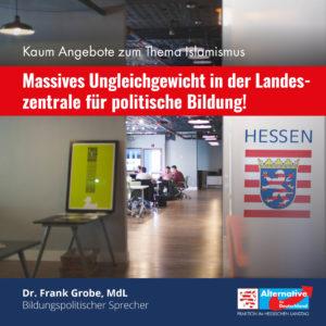 """Read more about the article """"Ideologische Schieflage""""– auch in der Landeszentrale für politische Bildung"""