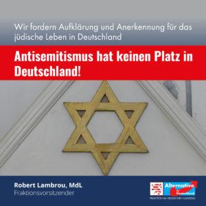 """Read more about the article """"Antisemitismus hat keinen Platz in Deutschland"""""""