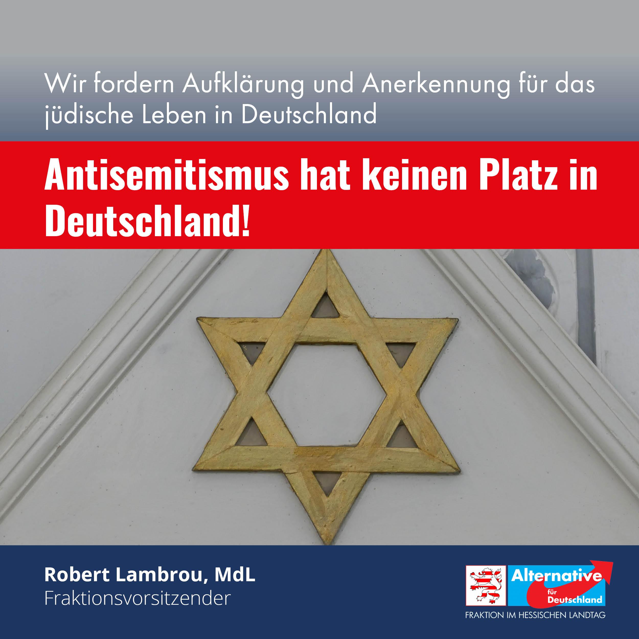 """You are currently viewing """"Antisemitismus hat keinen Platz in Deutschland"""""""