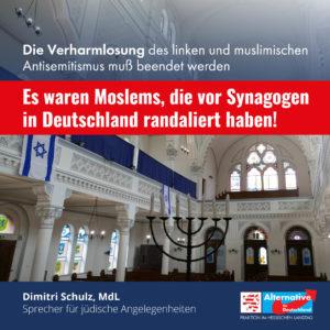 """Read more about the article """"Es waren Moslems, die vor Synagogen in Deutschland randaliert haben"""""""