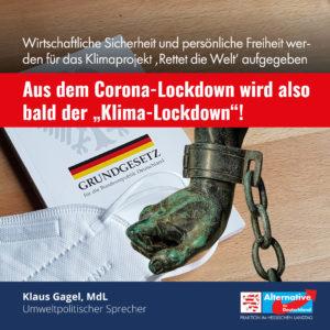 """Read more about the article Aus dem Corona-Lockdown wird also bald der """"Klima-Lockdown"""""""