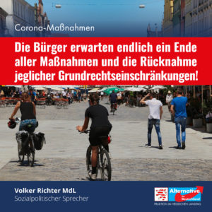 "Read more about the article ""Die Bürger erwarten endlich ein Ende aller Corona-Maßnahmen"""