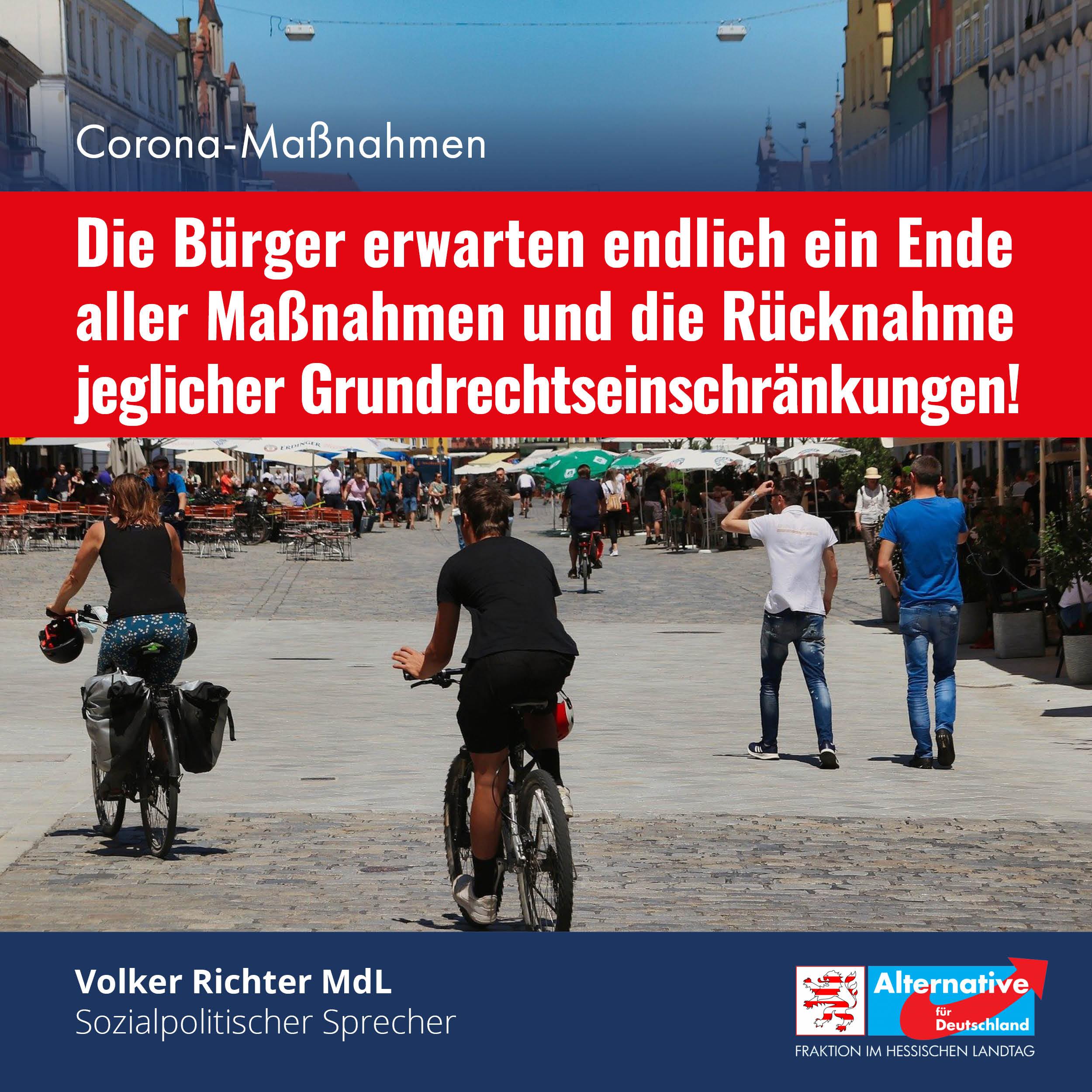 """You are currently viewing """"Die Bürger erwarten endlich ein Ende aller Corona-Maßnahmen"""""""