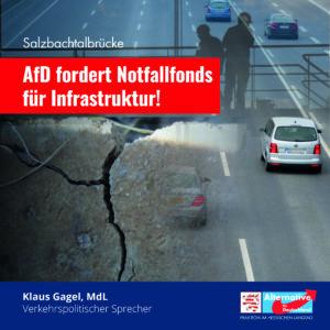 Read more about the article Salzbachtalbrücke: AfD fordert Notfallfonds für Infrastruktur