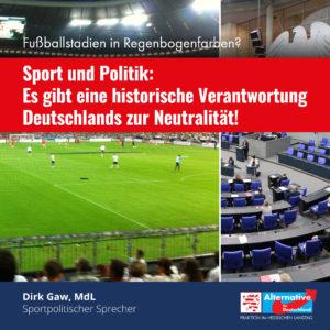 """Read more about the article Sport und Politik: """"Es gibt eine historische Verantwortung Deutschlands zur Neutralität"""""""