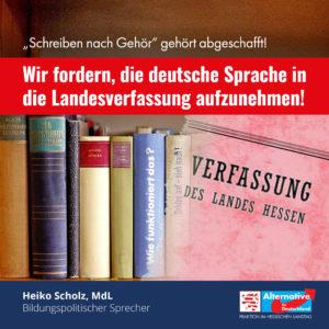 """Read more about the article """"Wir fordern, die deutsche Sprache in die Landesverfassung aufzunehmen"""""""