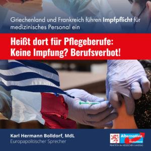 """Read more about the article Impfpflicht in Griechenland und Frankreich: """"Das darf uns nicht zum Vorbild werden"""""""