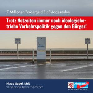 """Read more about the article 7 Millionen für E-Ladesäulen: """"Verkehrspolitik gegen den Bürgerwillen!"""""""