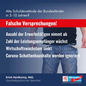 """Read more about the article Alte Schuldenstände in 5-10 Jahren? """"Das sind falsche Versprechungen"""""""