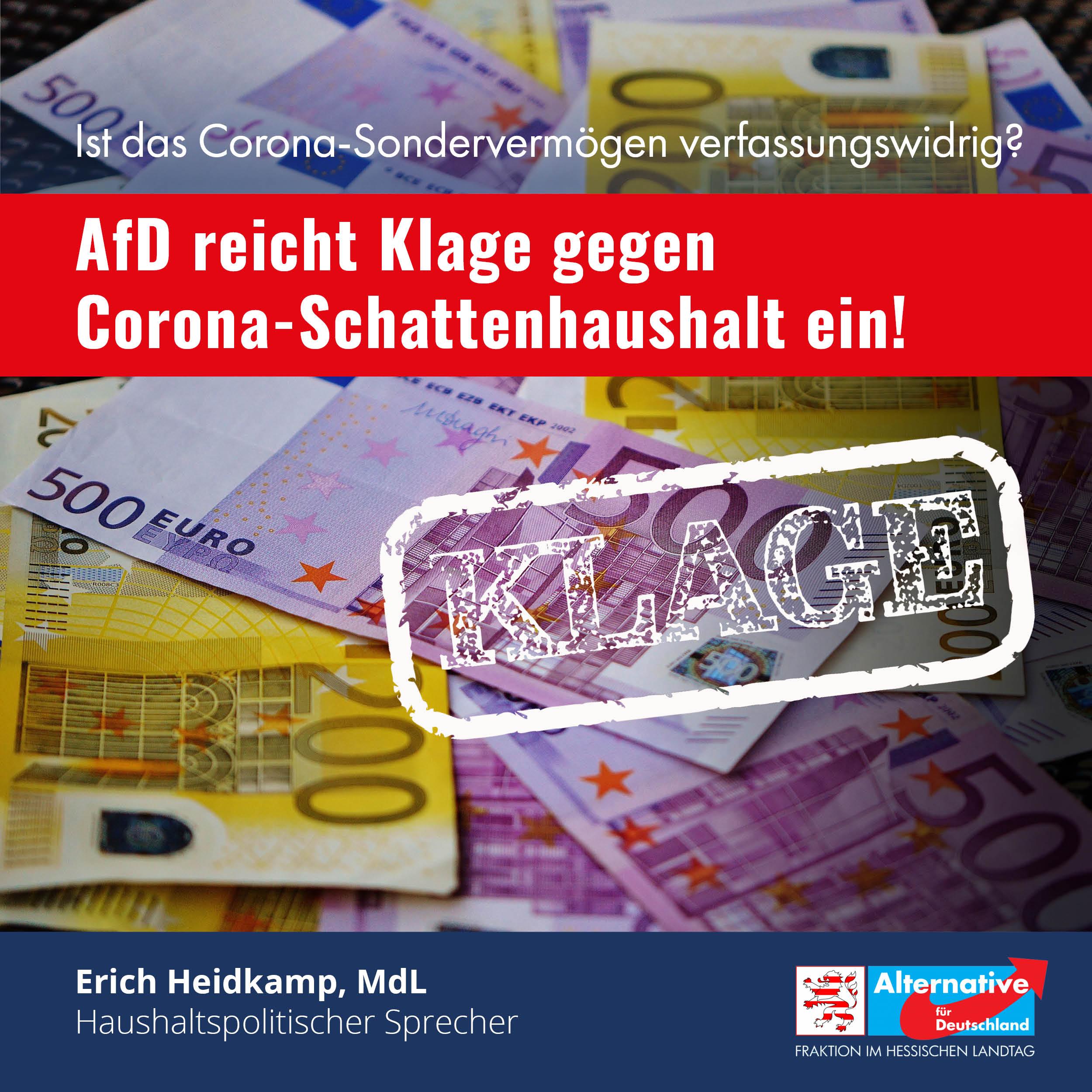 You are currently viewing AfD-Fraktion klagt gegen Sondervermögensgesetz!