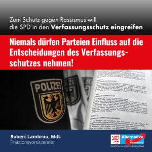 """Read more about the article """"Niemals dürfen Parteien Einfluss auf die Entscheidungen des Verfassungsschutzes nehmen!"""""""