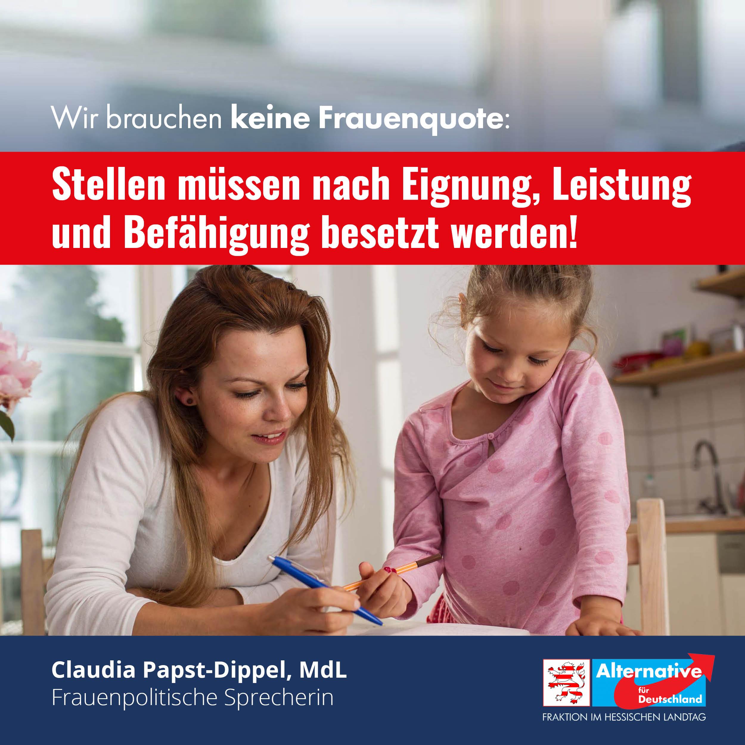 You are currently viewing AfD fordert: Gleichstellung von Erwerbs-, Familien- und Pflegearbeit.