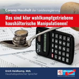 "Read more about the article Corona-Haushalt: ""wahlkampfgetriebene haushälterische Manipulationen"""