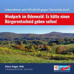 """Read more about the article Windpark im Odenwald: """"Es hätte einen Bürgerentscheid geben sollen"""""""