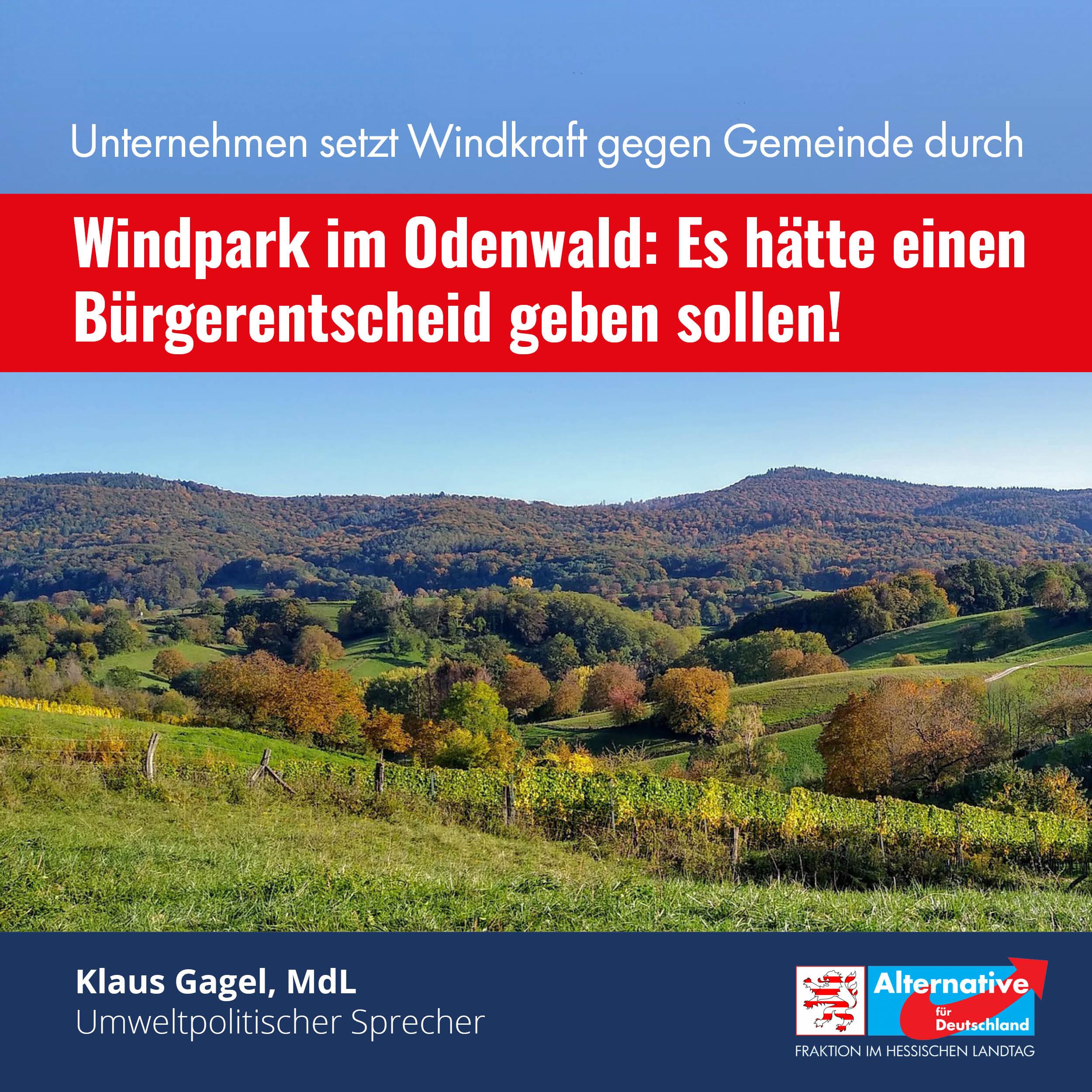 """You are currently viewing Windpark im Odenwald: """"Es hätte einen Bürgerentscheid geben sollen"""""""
