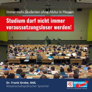 """Read more about the article Ohne Abitur studieren: """"Studium darf nicht immer voraussetzungsloser werden"""""""