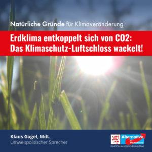 """Read more about the article """"Erdklima entkoppelt sich von CO2: Das Klimaschutz-Luftschloss wackelt"""""""