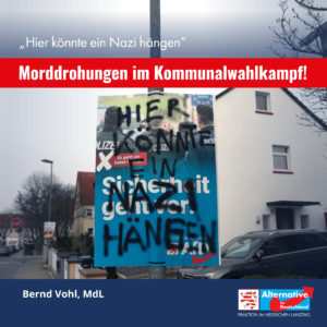 Read more about the article Morddrohungen im Kommunalwahlkampf: