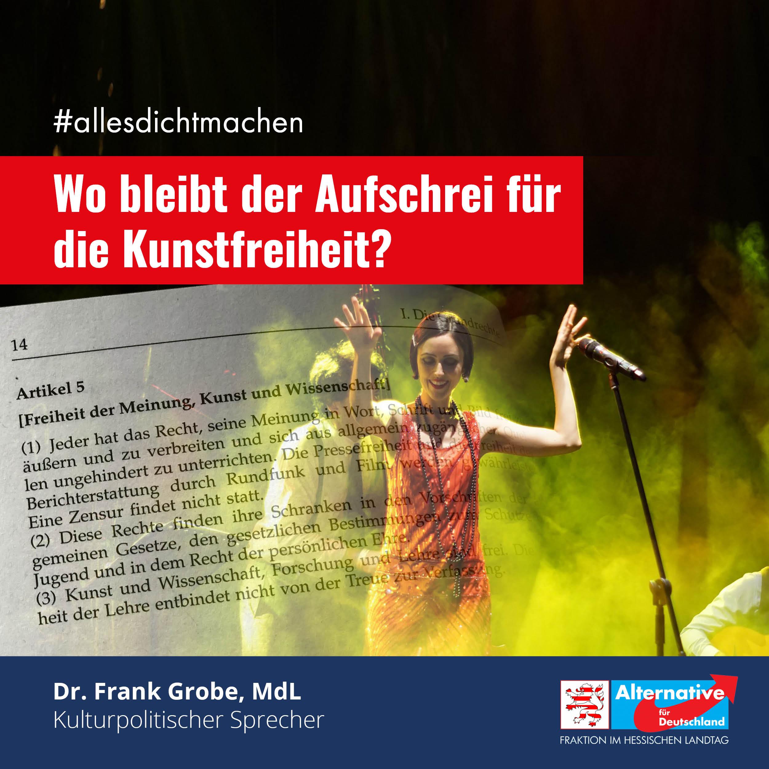 """You are currently viewing #allesdichtmachen: """"Wo bleibt der Aufschrei für die Kunstfreiheit?"""""""