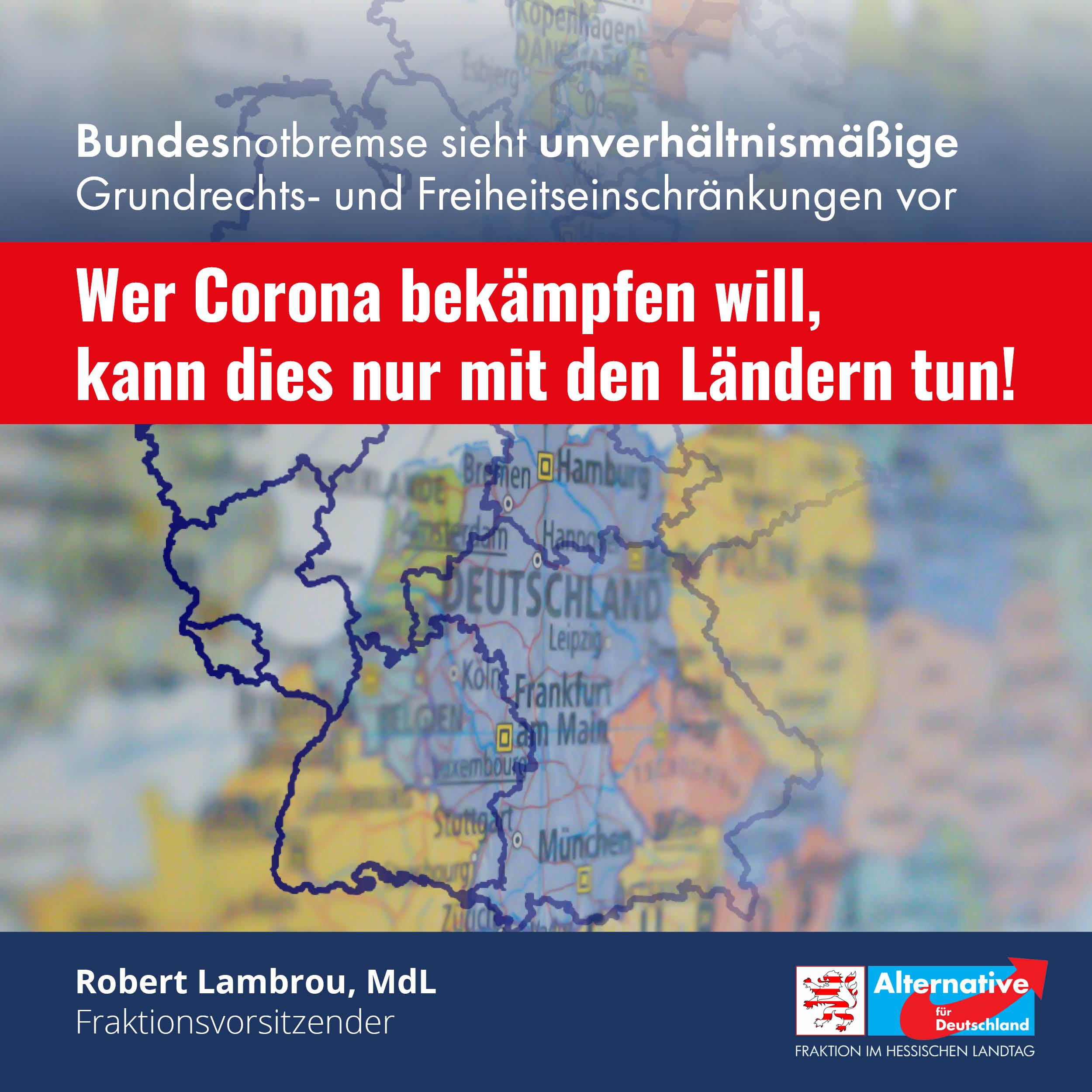 """Read more about the article """"Wer Corona bekämpfen will, kann dies nur mit den Ländern tun"""""""