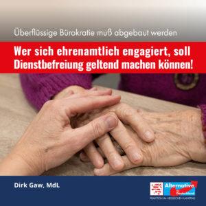"""Read more about the article """"Wer sich ehrenamtlich engagiert, soll Dienstbefreiung geltend machen können."""""""