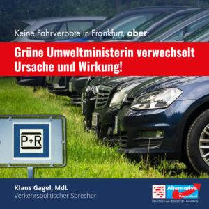 Read more about the article Fahrverbote in Frankfurt vom Tisch, aber Hinz verwechselt Ursache und Wirkung!