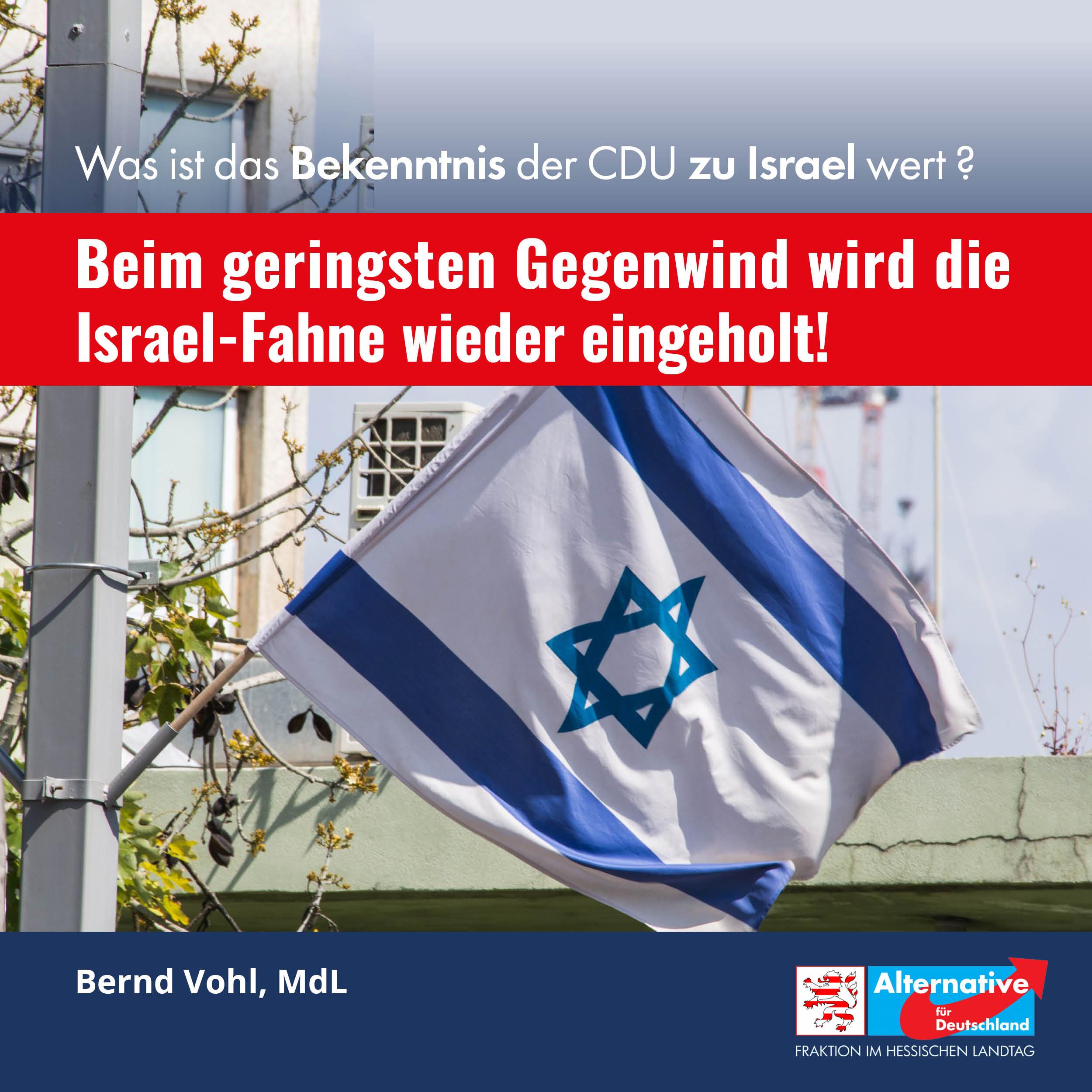 Read more about the article Zu viel Gegenwind: Israel-Fahne muss in Dietzenbach abgehangen werden.