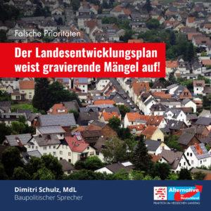 """Read more about the article """"Der Landesentwicklungsplan weist gravierende Mängel auf"""""""