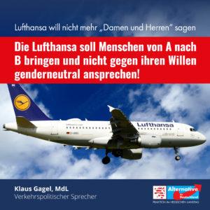 """Read more about the article Lufthansa sagt nicht mehr """"Damen und Herren"""": """"Unterwerfung ohne Not"""""""