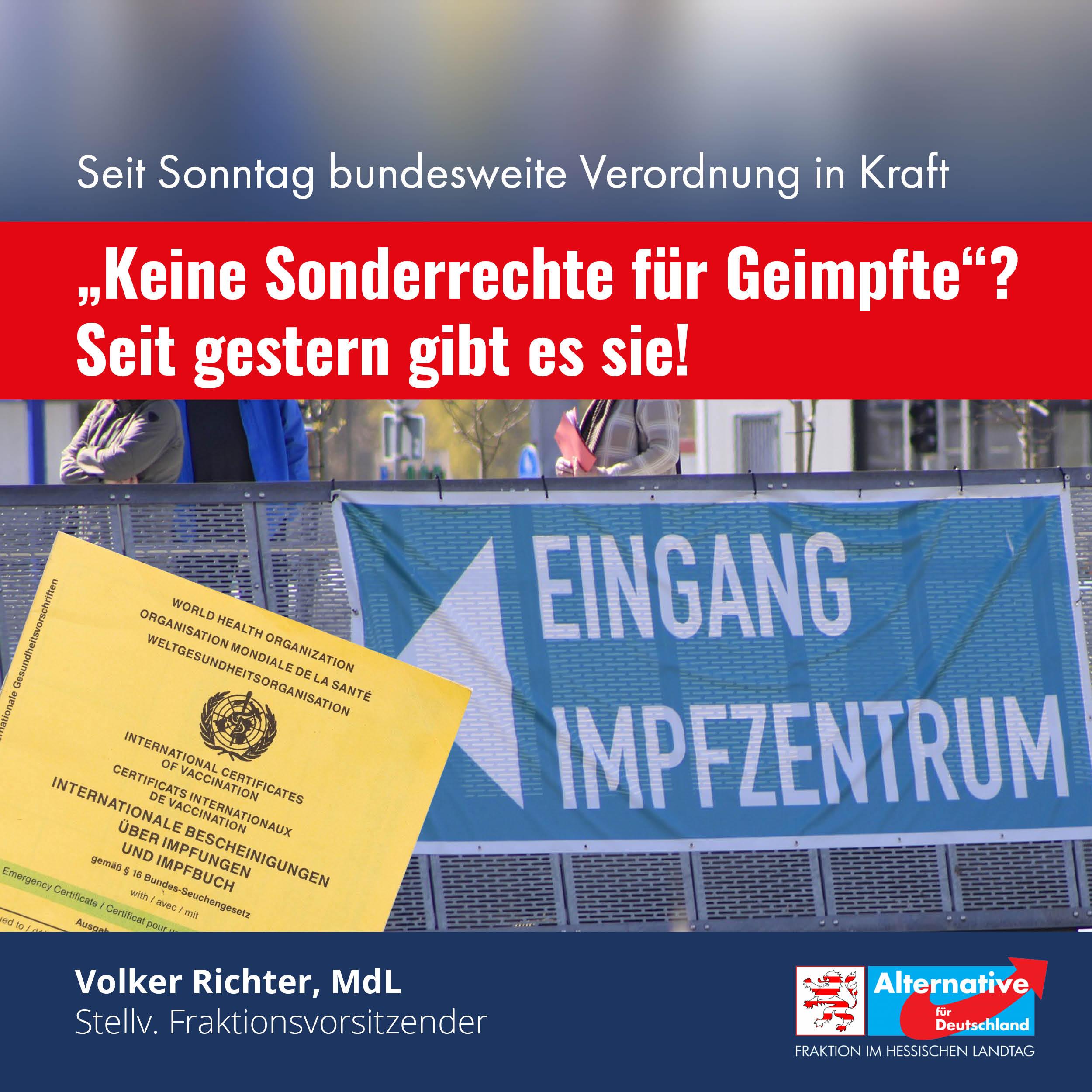 """You are currently viewing """"Keine Sonderrechte für Geimpfte""""? Seit gestern gibt es sie!!"""