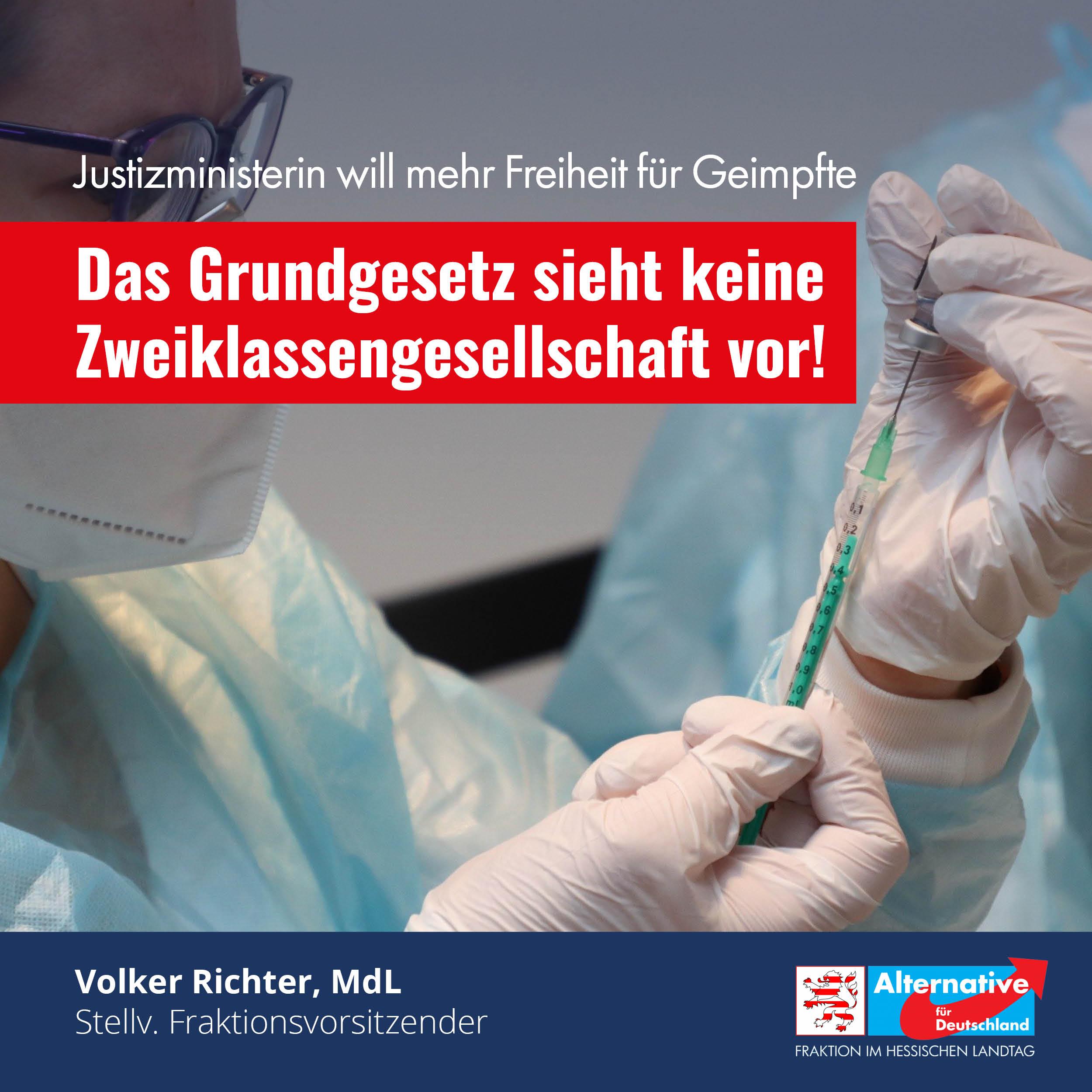 You are currently viewing Justizministerin will mehr Freiheit für Geimpfte!