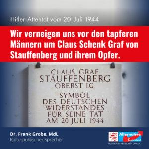 "Read more about the article ""Wir verneigen uns vor den tapferen Männern des 20. Juli"""