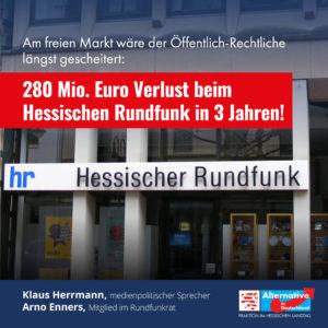 Read more about the article 280 Mio. Euro Verlust beim Hessischen Rundfunk in 3 Jahren!