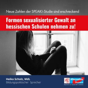 Read more about the article AfD-Anfrage belegt: Formen sexualisierter Gewalt nehmen an hessischen Schulen zu!