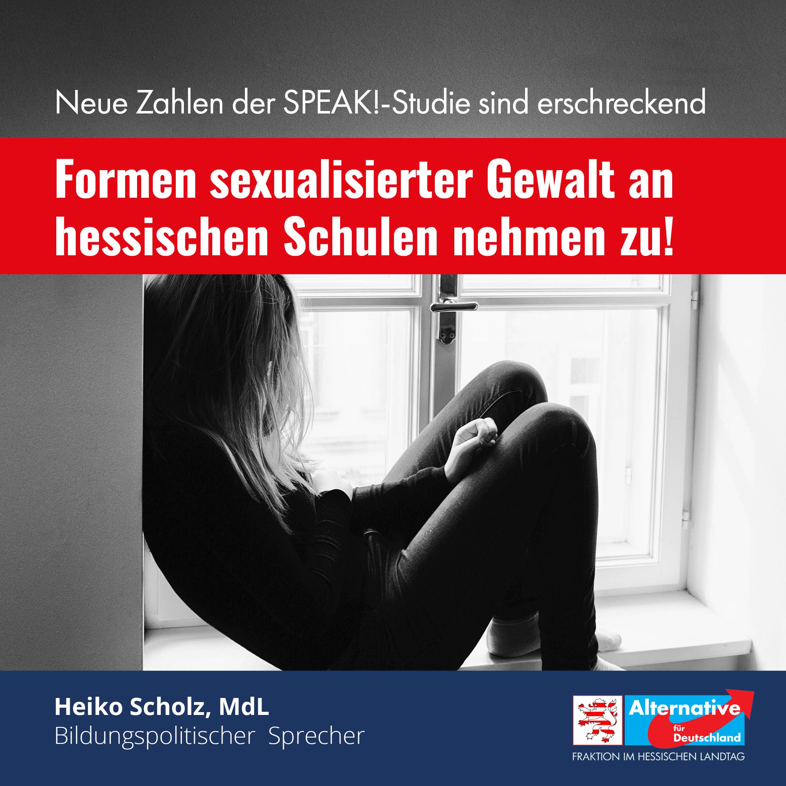 You are currently viewing AfD-Anfrage belegt: Formen sexualisierter Gewalt nehmen an hessischen Schulen zu!