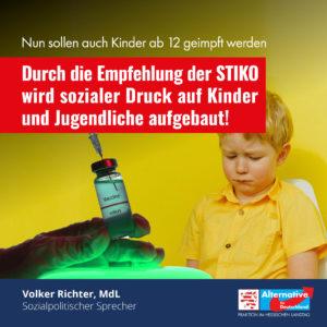 Read more about the article Durch die Empfehlung der STIKO wird sozialer Druck auf Kinder und Jugendliche aufgebaut