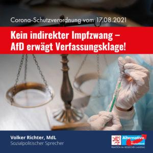 Read more about the article Kein indirekter Impfzwang – AfD erwägt Verfassungsklage